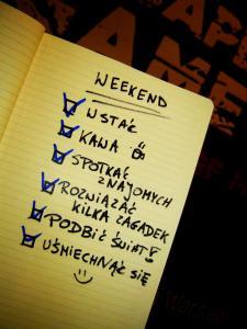 lista zadań na weekend